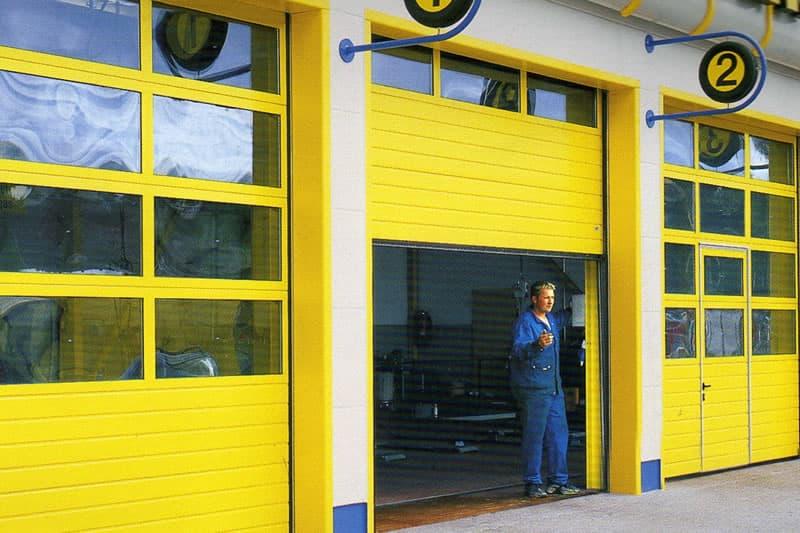 Installation de portes sectionnelles